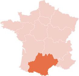 carte france - Tarn, Haute Garonne, Aude